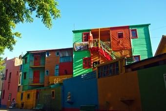 La Boca, gekleurde wijk Buenos Aires, Argentinie