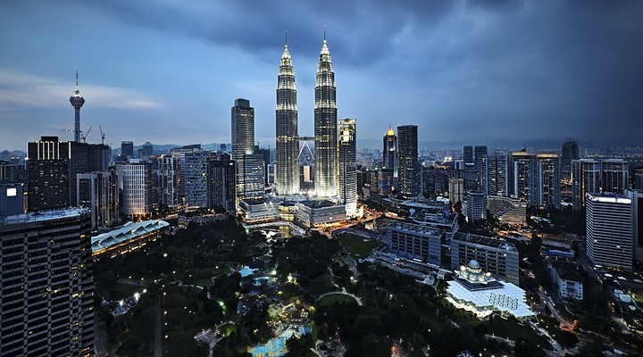 De Petronas Twin Towers in Kuala Lumpur
