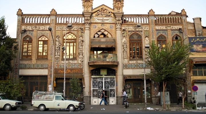 De stad Teheran in Iran