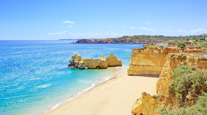 Praia da Rocha in de Algarve, Portugal