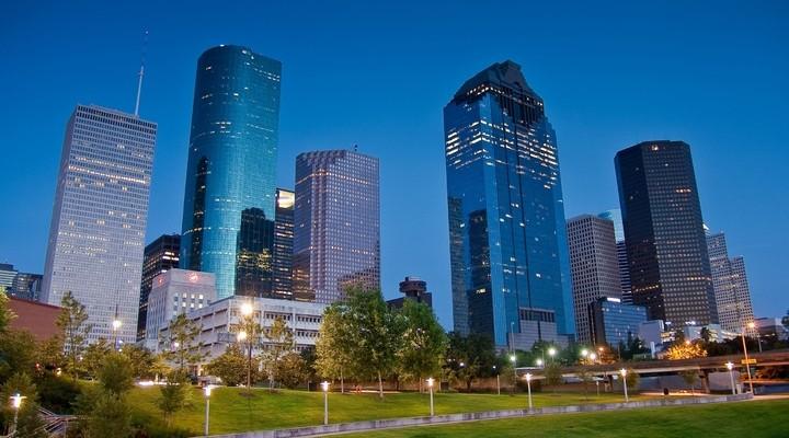 Skyline Houston, hoge gebouwen, Verenigde Staten