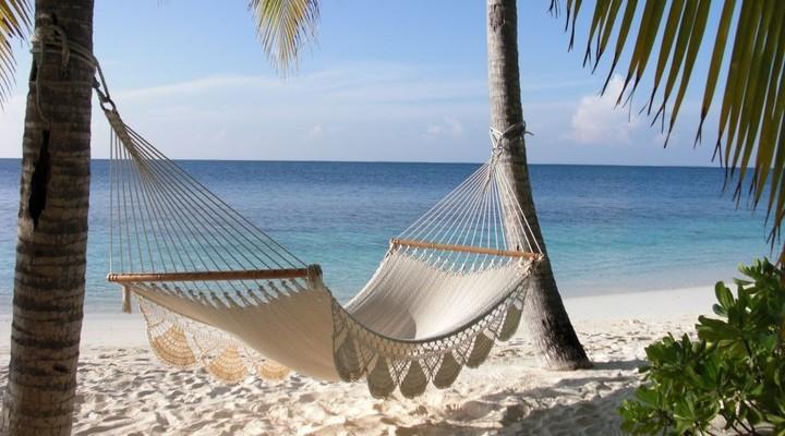 Hangmat met uitzicht op zee