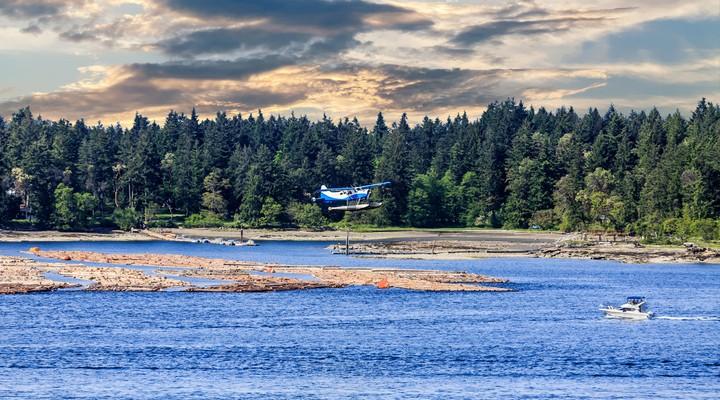 Watervliegtuig op Vancouver Island