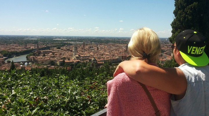 Het uitzicht op Verona