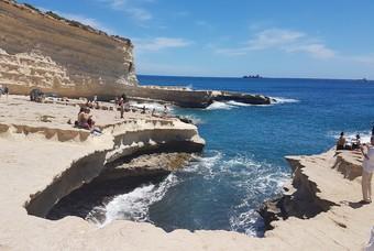 De St. Peter's Pool bij Marsaxlokk