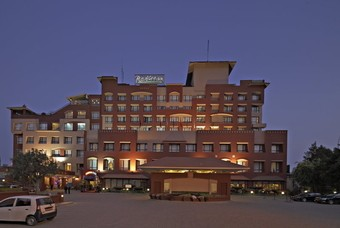 Het Radisson Hotel Kathmandu 's nachts