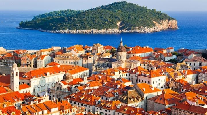 Uitzicht over binnenstad Dubrovnik