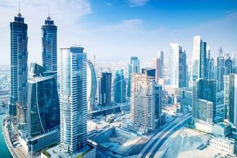 Skyline van Dubai