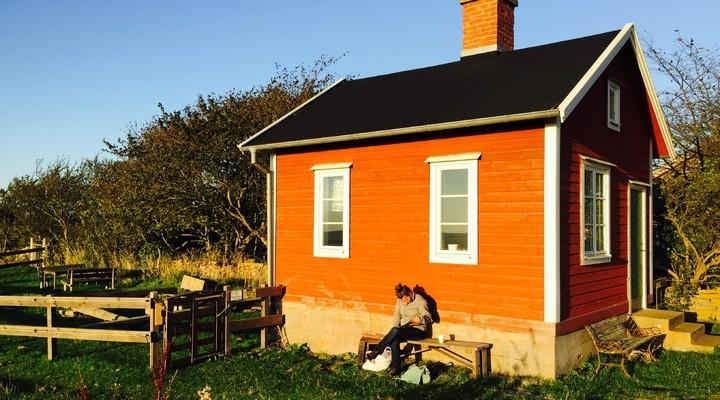 Typisch huis op Öland