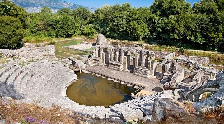 Het amfitheater in Butrint