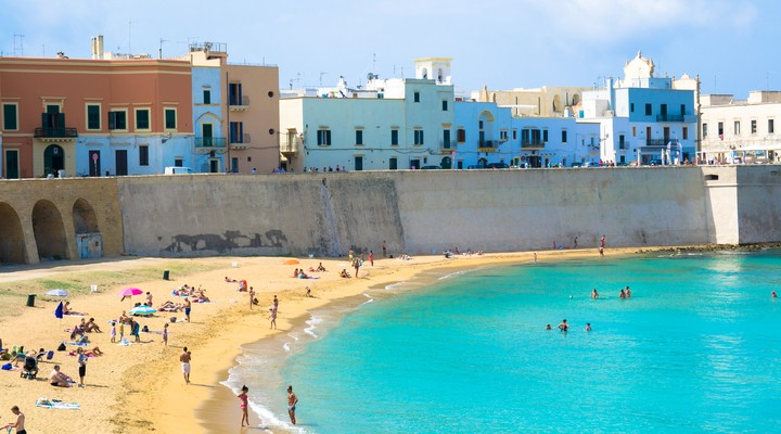 Strand van Gallipoli in Puglia (Apulië)