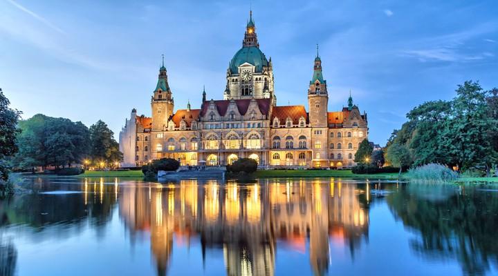 Het gemeentehuis in Hannover