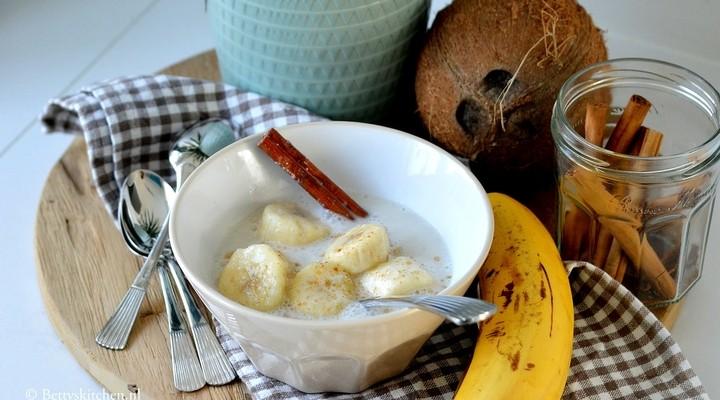 Heerlijke banaan in kokosmelk uit Thailand