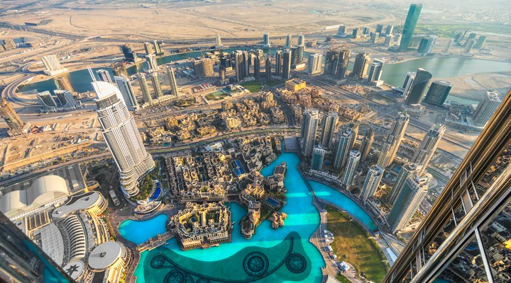 Dubai gezien vanaf bovenaf