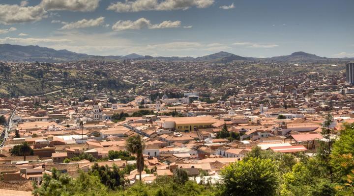 Uitzicht over de stad Sucre, Bolivia
