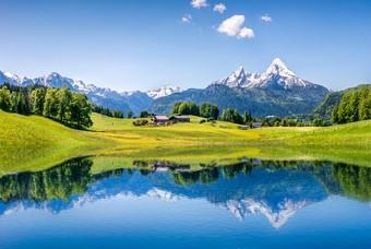 De Beierse Alpen in Duitsland