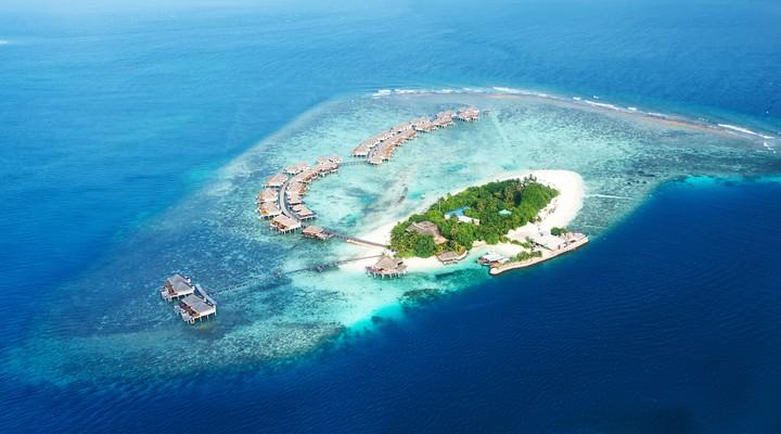 Een prachtig eilandje van de Malediven