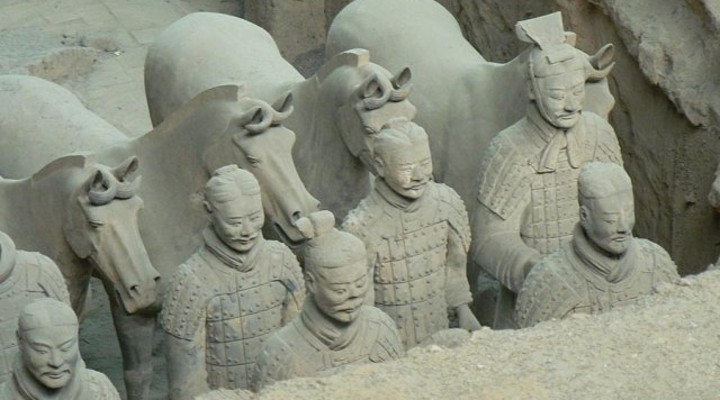 Terracottaleger in China