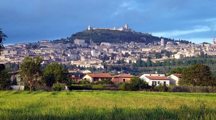 Assisi dorp, Umbrie, Italië