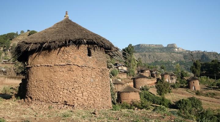 Een hutje in Ethiopië