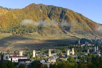 Uitgestrekt landschap van Georgië