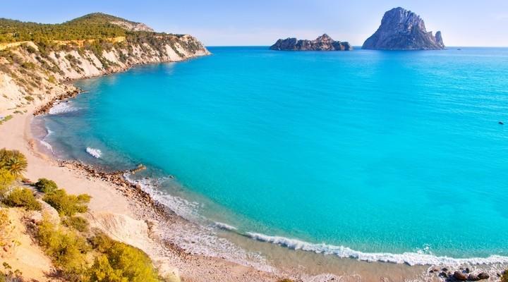 Het strand Cala d'Hort