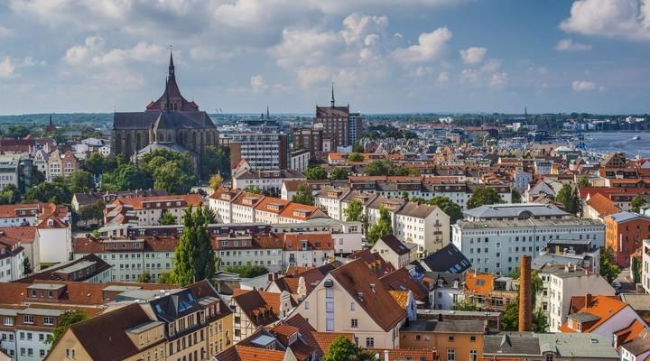 Rostock, Duitsland, skyline van de stad