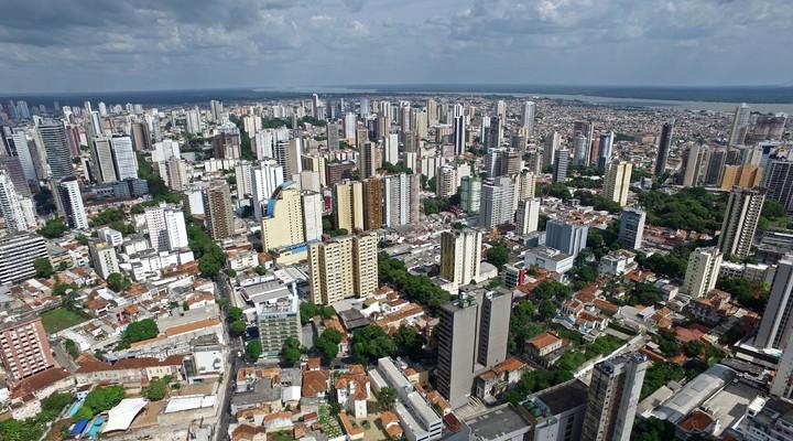 Luchtfoto van de Braziliaanse stad Belém