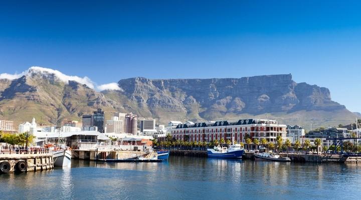 Tafelberg en kustlijn Kaapstad Zuid-Afrika