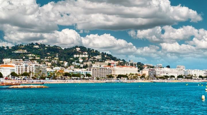 La Croisette strand Cannes, Zuid-Frankrijk