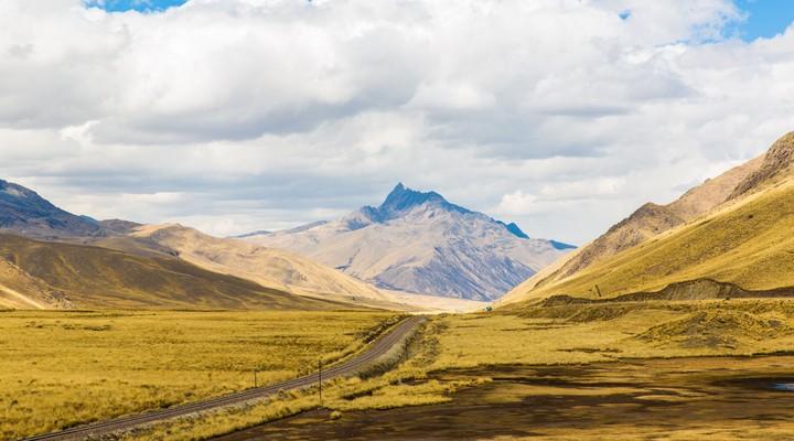 Landschap Inca Trail, Peru