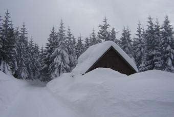 Sneeuw in het Reuzengebergte, Tsjechië