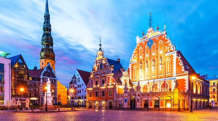 Plein in de Oude Stad van Riga