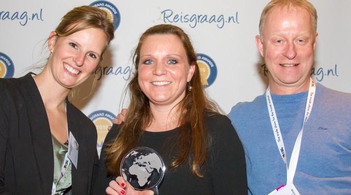 Riksja Travel met Reisgraag award