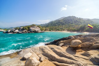 Nationaal Park Tayrona in Colombia
