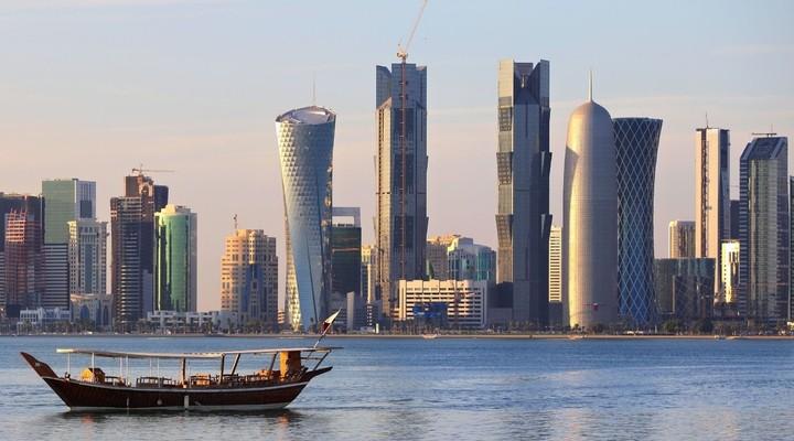 Dhow op het water Doha, Qatar