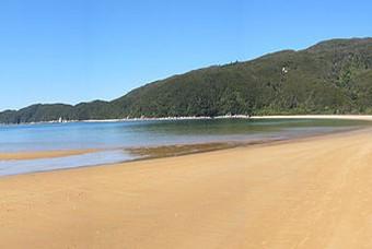 Strand Abel Tasman Park, Nieuw-Zeeland