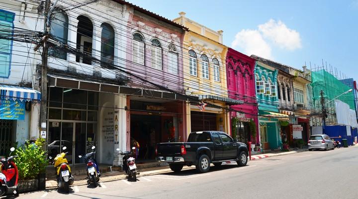 Straatbeeld Phuket, Thailand