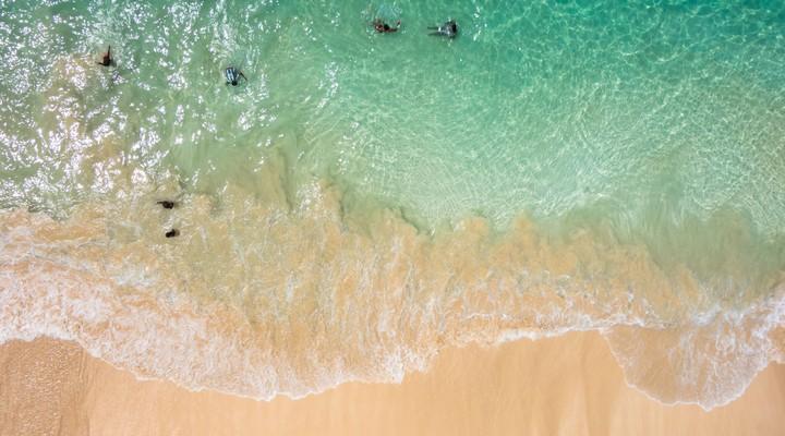 Santa Maria strand in Sal, Kaapverdië