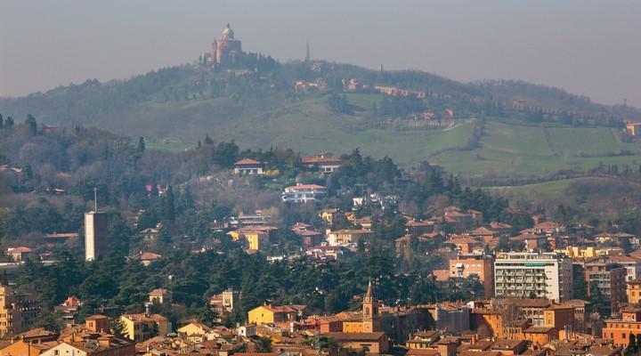 Uitzicht op de stad Bologna, Italie