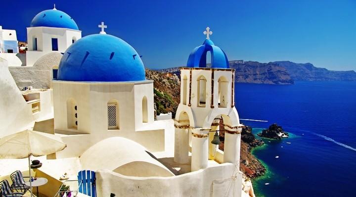 De bekende architectuur van Santorini