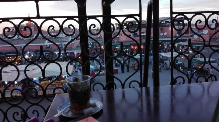 Café de France bij het Djemaa el Fna