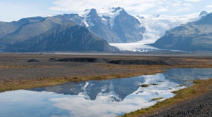 De gletjser Vatnajökull