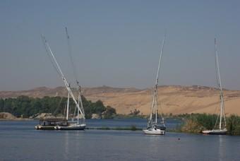 Feluca`s Aswan Egypte vakantie