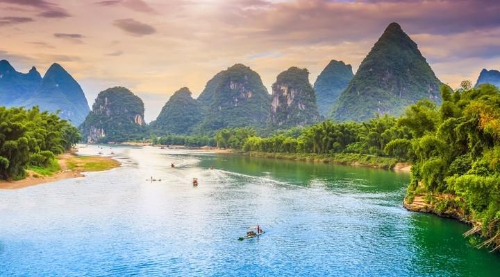 Het prachtige gebied Yangshuo
