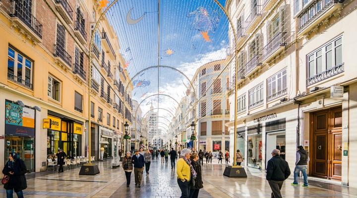Winkelstraat in Málaga