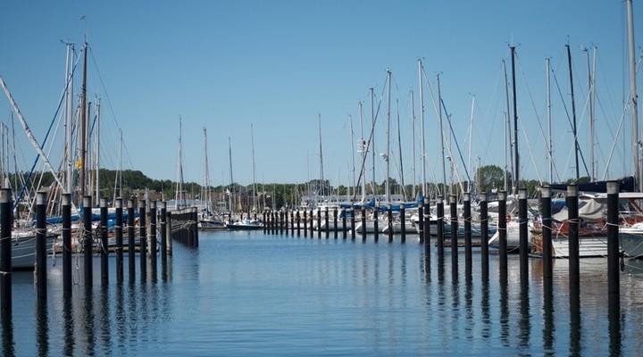 Haven Kiel met bootjes