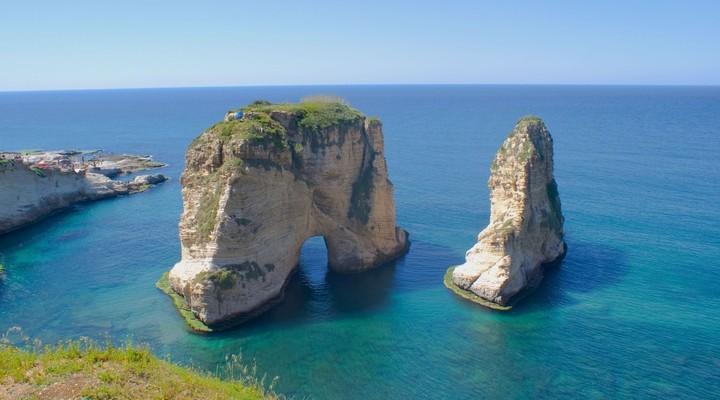 Rots in zee Beiroet Libanon