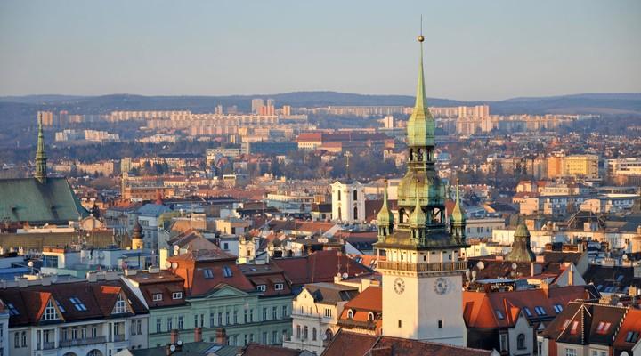 Skyline stad Brno - Tsjechië