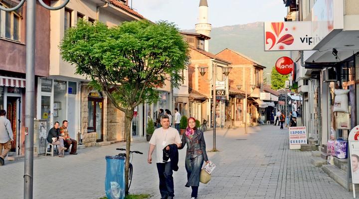 Straatbeeld Ohrid, Macedonie